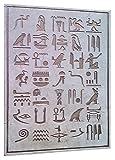 Jeroglifico Egipcio, artesania hecha en marmol crema y...