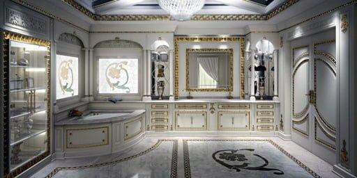 Baño de granito blanco Itaúnas