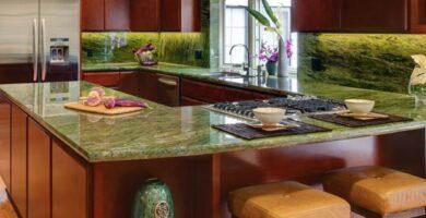 Cocina de granito verde
