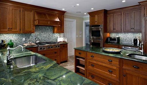 Granito verde: atractivo e informal 2 granito verde